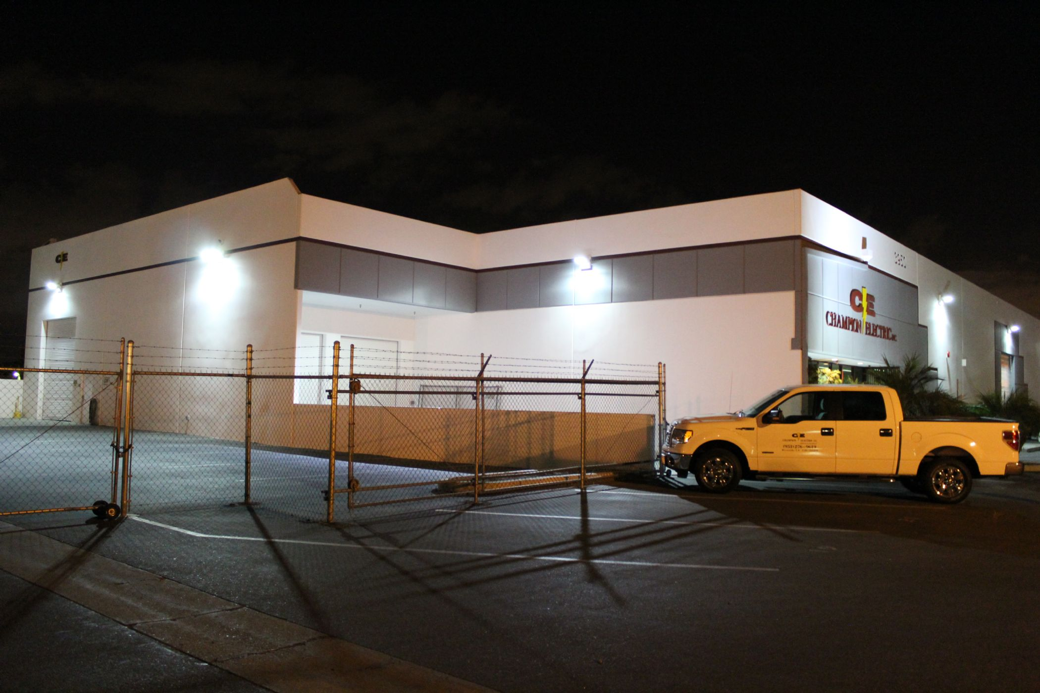 Exterior lighting 1g exterior lighting can significantly improve the look as well as the safety of your building champion electric inc can assist your business with lighting mozeypictures Images